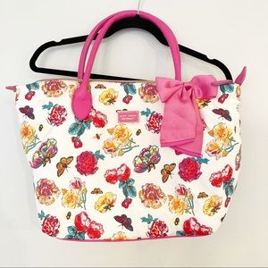 NWT Betsey Johnson Butterfly Leather/Nylon Tote